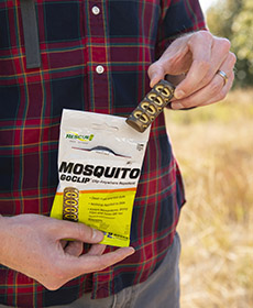 The RESCUE! GoClip repels black flies