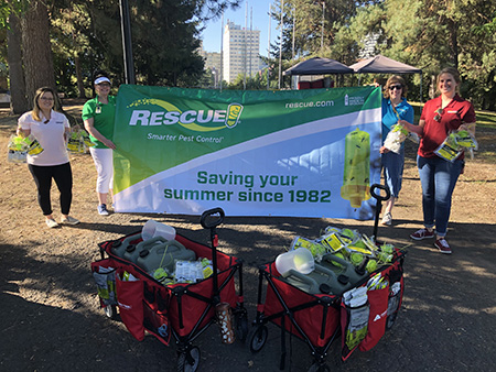 RESCUE! donated yellowjacket traps to Pig Out in the Park.